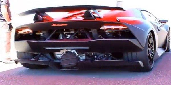 La Lamborghini Sesto Elemento en action