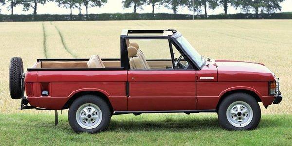 Un Range Rover découvrable aux enchères