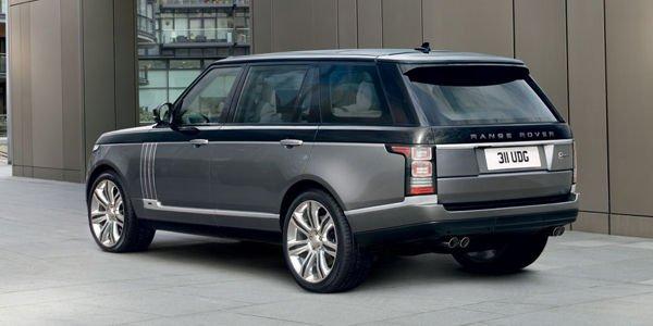 Land Rover planche sur un Range Rover de luxe