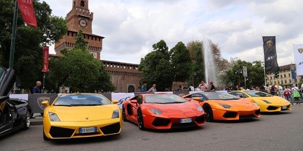 Le Grande Giro Lamborghini en vidéo