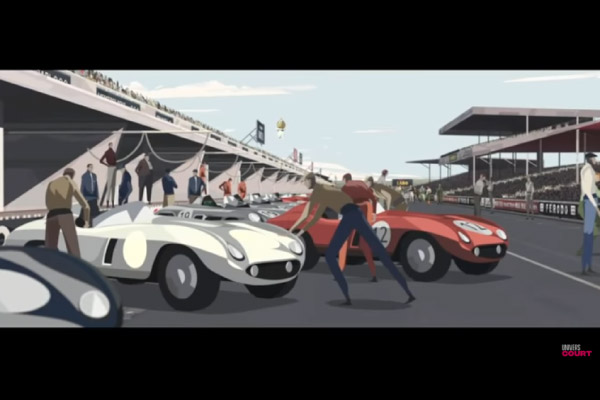 Le Mans 1955 : le court métrage d'animation