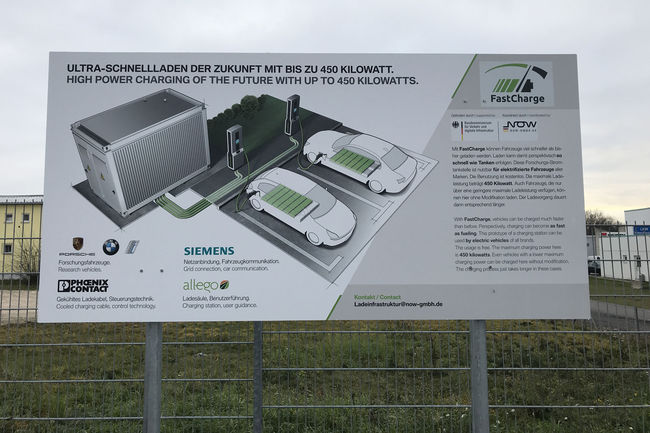 Une station de chargement rapide présentée en Allemagne