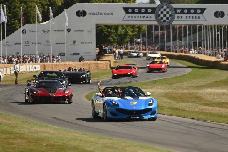 Le show Ferrari à Goodwood