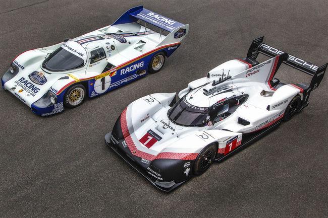 Les Porsche 956 et 919 sur le Nürburgring