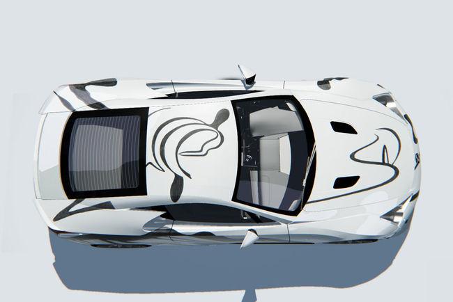 Une Lexus LFA Art Car présentée aux 24 Heures de Spa