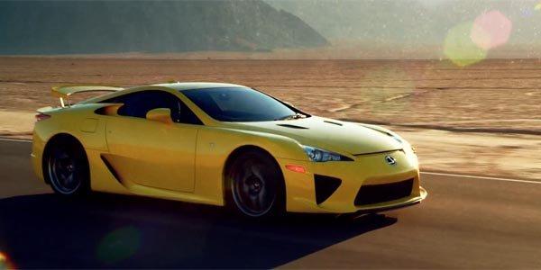 Lexus LFA : star d'une campagne de pub