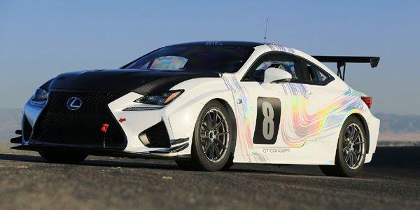 Le concept Lexus RC F GT au départ à Pikes Peak