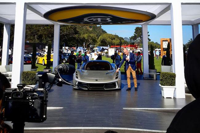 Lotus : l'Evija séduit le public de Monterey