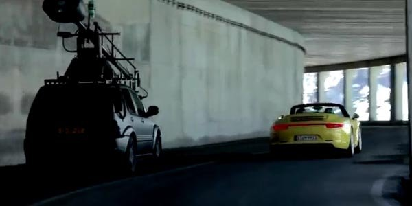 Porsche Carrera 4 : making of du spot TV