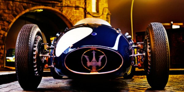 Une Maserati 250F immortalisée à Hambourg