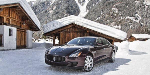Le Maserati Winter Tour dans les Alpes