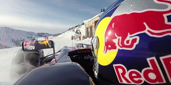 Max Verstappen en F1 sur la neige de Kitzbühel