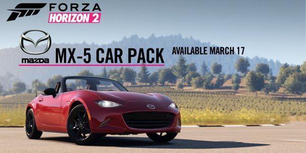 La Mazda MX-5 arrive dans Forza Horizon 2