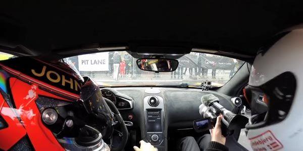 En McLaren 650S avec Kevin Magnussen