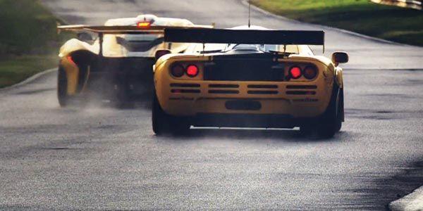 McLaren réunit en piste les P1 et F1 GTR