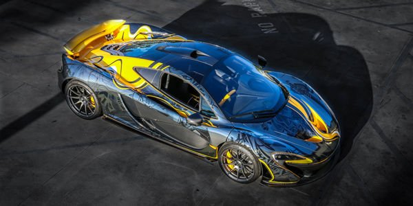 McLaren P1 Tattoo Edition par Sticker City