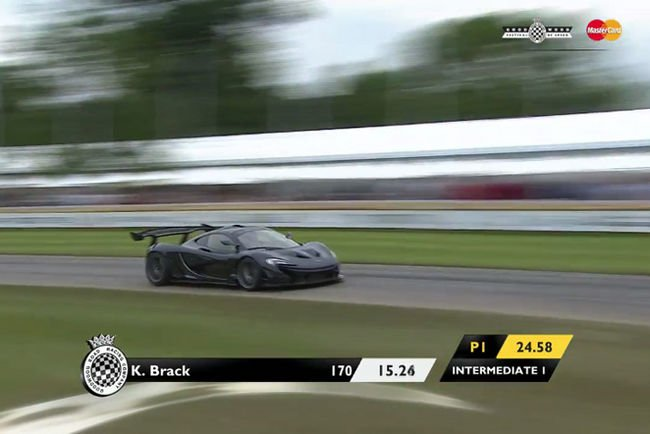 Un record pour la McLaren P1 LM à Goodwood