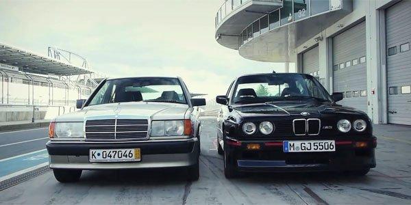 Mercedes 190E 2.3-16 vs BMW M3 E30