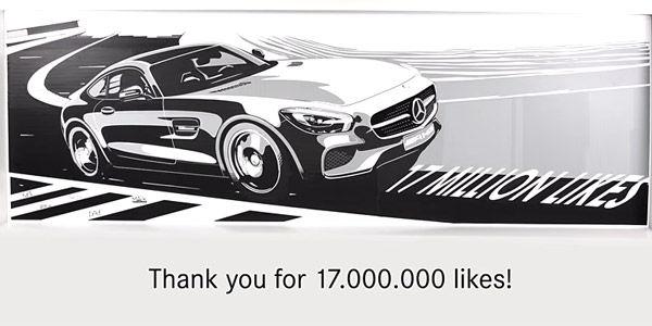 17 millions de fans Facebook pour Mercedes