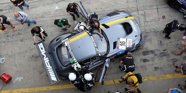 La Mercedes AMG GT3 en action au VLN