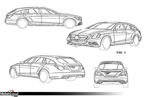 La mercedes cls shooting break en croquis actualit automobile motorlegend - Croquis voiture ...