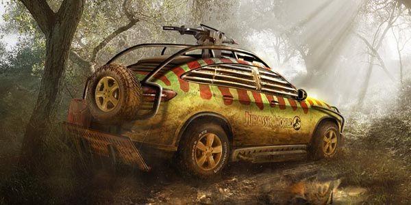 Le Mercedes GLE Coupé à l'affiche de Jurassic Park