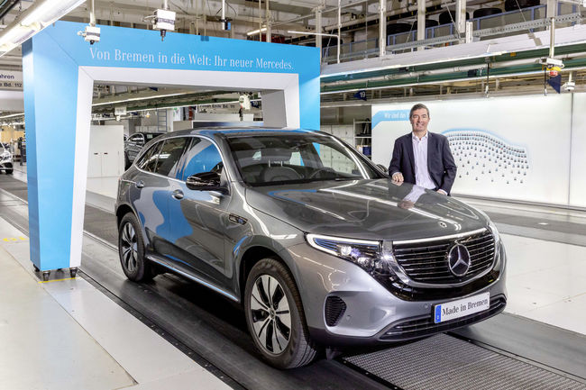 Mercedes-Benz EQC : production lancée