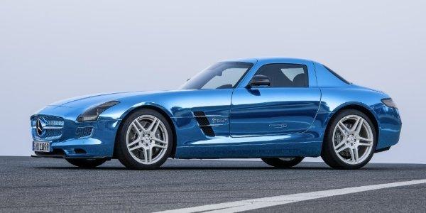 Mercedes SLS AMG Electric Drive en vidéo