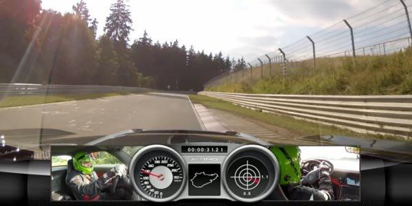 Une Mercedes SLS AMG Black sur le Ring