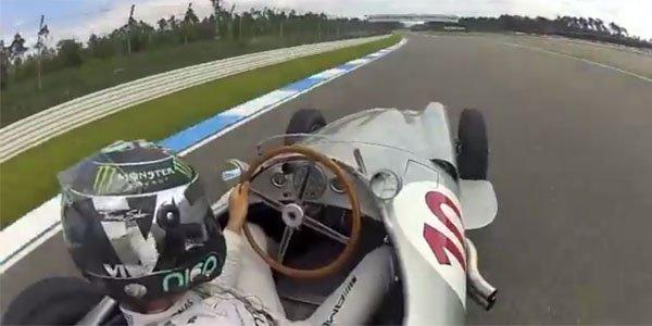 Vidéo : Nico Rosberg se filme au volant d'une Mercedes W196