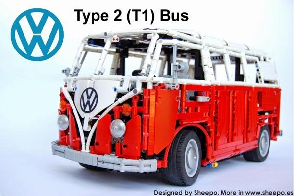 lego vw bus mini instructions