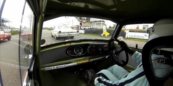L'art de piloter une Mini à Goodwood