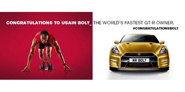 Usain Bolt ambassadeur de la Nissan GT-R