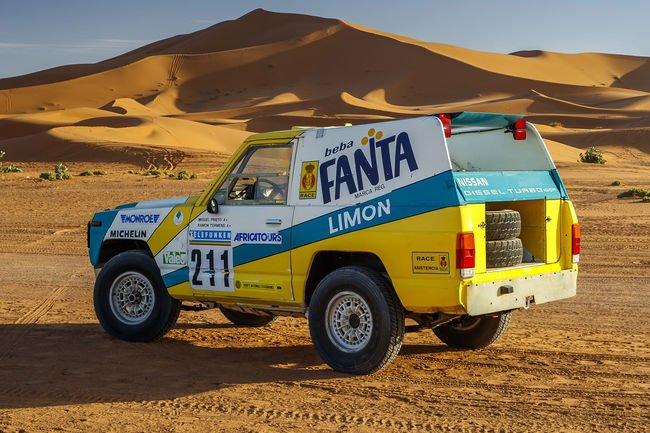 Un Nissan Patrol du Rallye Dakar 1987 restauré
