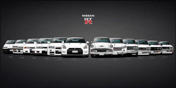 Cinquante ans de Nissan Skyline GT-R illustrés