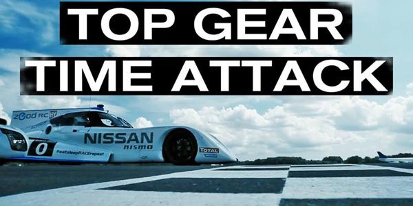 La Nissan Zeod RC en piste chez Top Gear