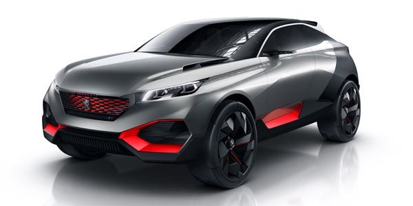 concept peugeot quartz crossover sportif actualit. Black Bedroom Furniture Sets. Home Design Ideas