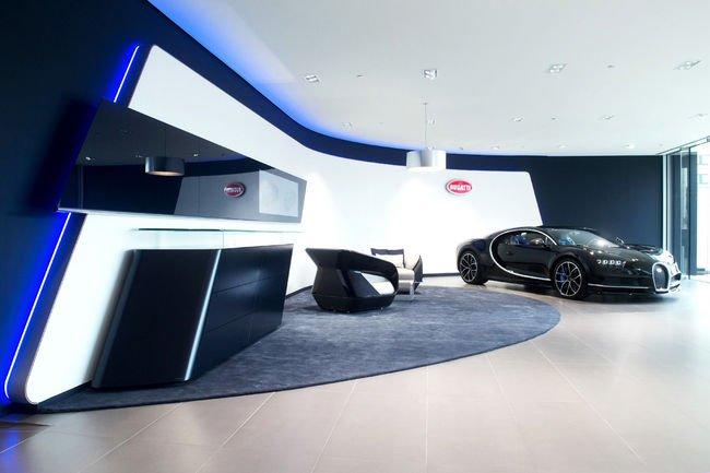 Nouveau showroom Bugatti à Bruxelles