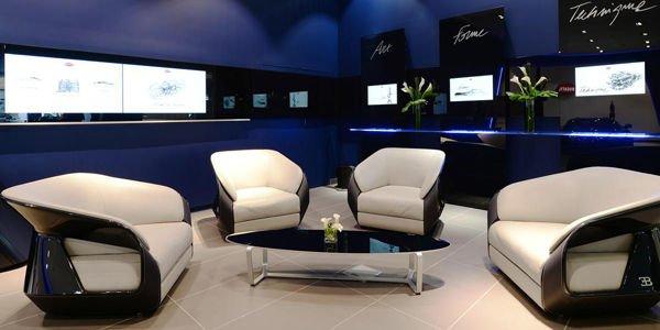 Un nouveau concept de showroom pour Bugatti