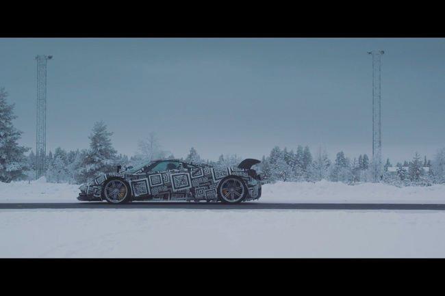La Pagani Huayra BC testée sur la neige