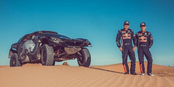 Sébastien Loeb au Dakar avec le Team Peugeot Total