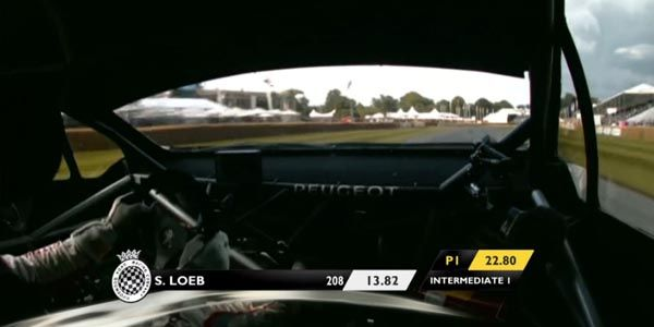 Loeb en démonstration à Goodwood