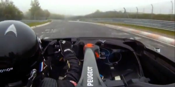 Peugeot EX1 sur le Ring, la vidéo
