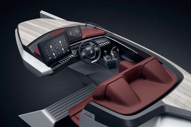 Le i-Cockpit Peugeot dans le Sea Drive Concept