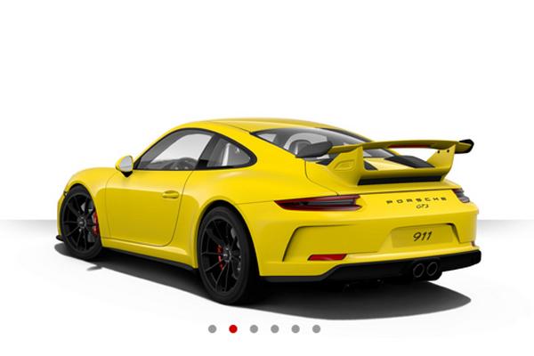 Configurez votre Porsche 911 GT3