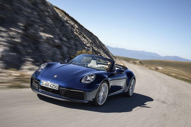 La Porsche 911 (992) enlève le haut