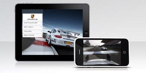 Un tour en Porsche 911 sur iPad