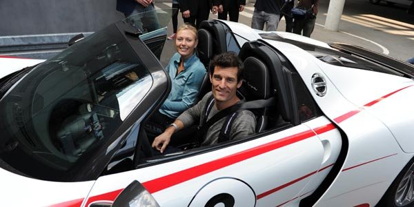 Mark Webber et Maria Sharapova en Porsche 918 Spyder
