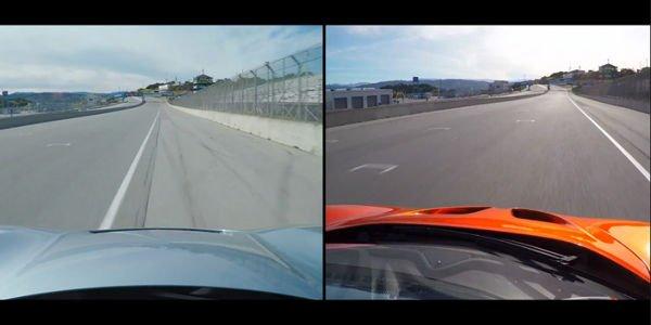 McLaren P1 vs Porsche 918 Spyder à Laguna Seca