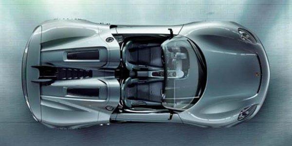 La Porsche 918 Spyder en approche